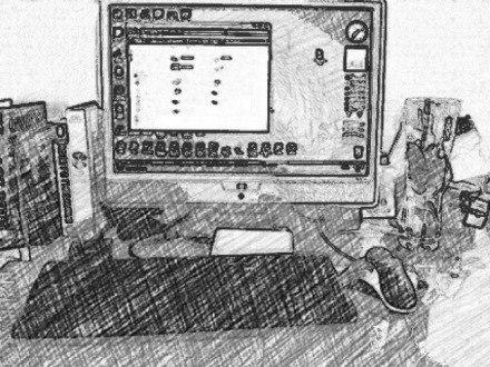 Desk - Pencil sketch