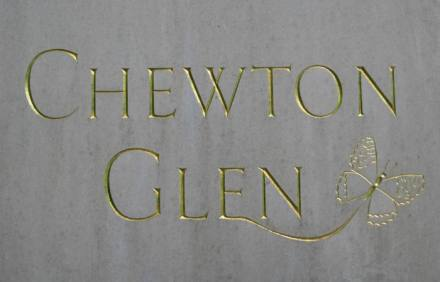 Chewton Glen drive sign