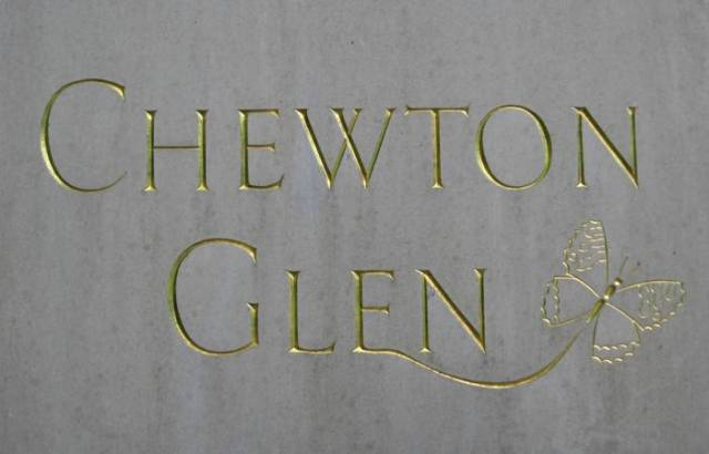 Chewton Glen drive sign